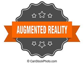 augmented, wirklichkeit, seal., zeichen, freigestellt, label...