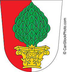 Augsburg city coa - Various vector flags, state symbols,...