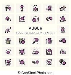 Augur Crypto icons set