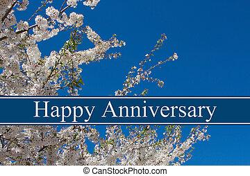 augurio, anniversario, felice