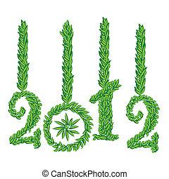 augurio, anno, nuovo, 2012, scheda, felice