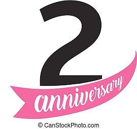 2 Anniversario Matrimonio.Numero Certificato Manifesto Scheda Anniversario