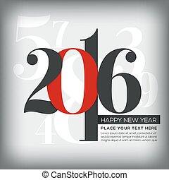 augurio, numeri, fondo, anno, nuovo, 2016, felice