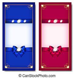 augurio, rosa, blu, cartelle