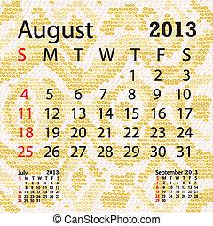 august 2013 calendar albino snake skin