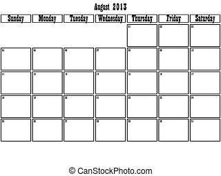 August 2013 planner