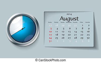 august 2014 - calendar
