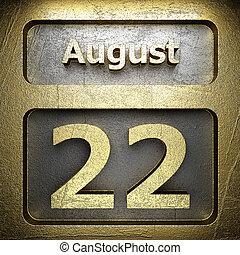 august 22 golden sign
