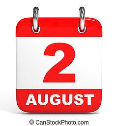 august., calendar., 2