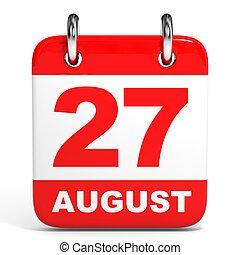 august., calendar., 27