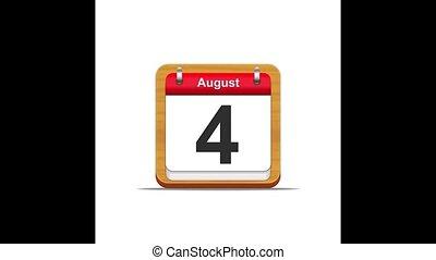August calendar.