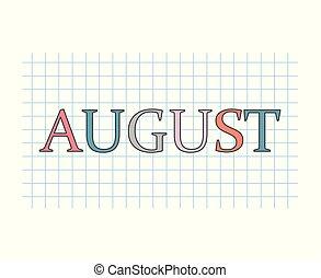 august language concept- vector illustration