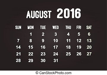 August Month 2016