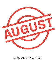 August rubber stamp