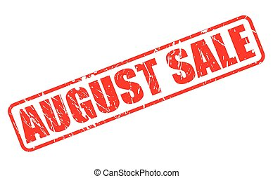 AUGUST SALE red stamp text