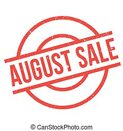 August Sale rubber stamp