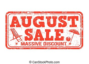 August sale stamp