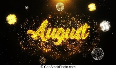 August Wishes Greetings card, Invitation, Celebration...