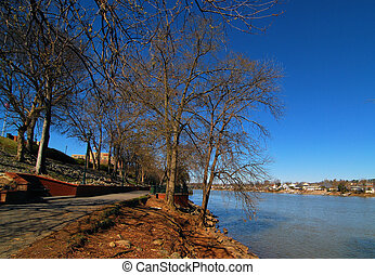 Views from the riverwalk in Augusta, Georgia