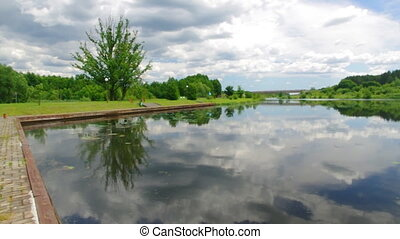 Augustow Canal Poland, Belarus. It is under the protection...
