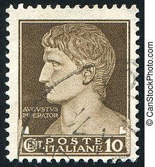 Augustus Caesar - ITALY - CIRCA 1945: stamp printed by...