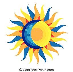 augustus, eclips, zonne, 2017, totaal, 21, pictogram