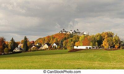 Augustusburg Castle in autumn