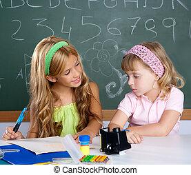 aula, bambini, studenti, porzione, altro, ciascuno