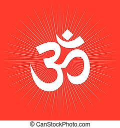 Aum or Om symbol of Hinduism.