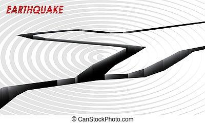 aumentado, vector, sísmico, plano de fondo, activity., bandera, shocks., earthquake., terremoto, a4