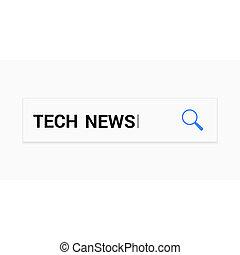 aumentar, óptico, vidrio, con, palabras, tecnología, noticias