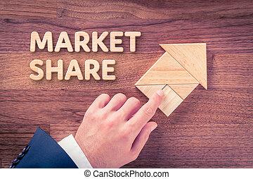 aumentar, mercado acción