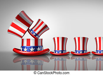 aumento, americano, população