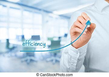 aumento, eficiencia