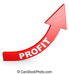 aumento, profit., su