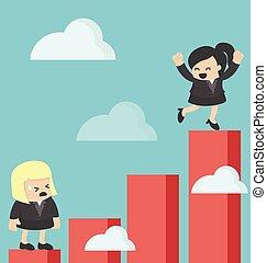 aumento, profitto, affari donna