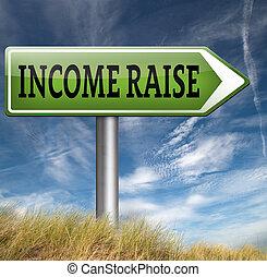 aumento, renda
