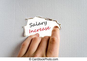 aumento salário, conceito, texto