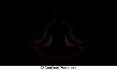 Aura, chakra, enlightenment of mind - Animation of aura,...