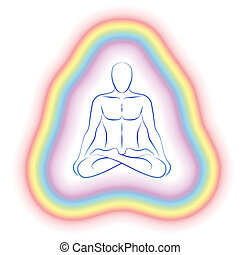 Aura Meditation Subtle Body Man - Aura or subtle body of a...