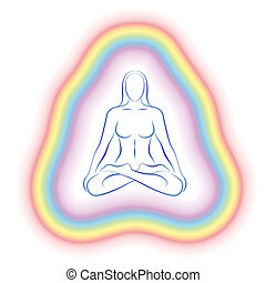 Aura Meditation Subtle Body Woman - Aura or subtle body of a...