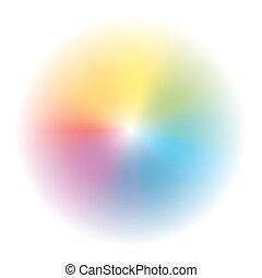 Aura Rainbow Colored Gradient Circl