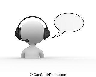 auriculares, con, micrófono