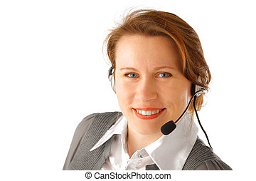 auriculares, corporación mercantil de mujer