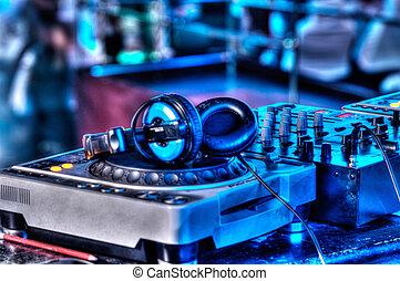 auriculares, dj, batidora