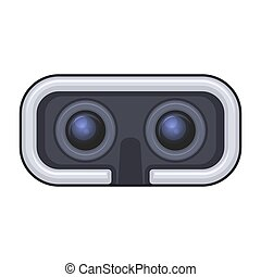 auriculares, juego, realidad virtual, vector, entertainment...