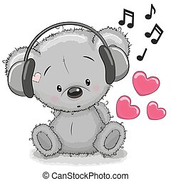 auriculares, oso
