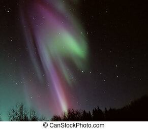 Aurora Borealis - A bright and colorful aurora. Taken...