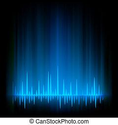 Aurora Borealis abstract glow light. EPS 8