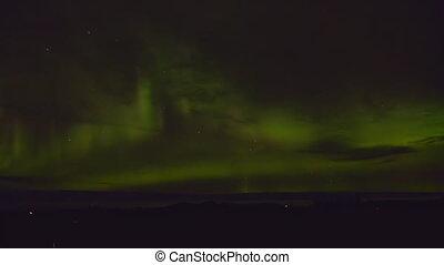 Aurora Borealis Alaskan Country Sky - A rapid-fire dazzling...